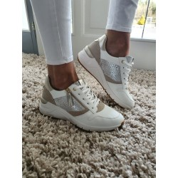 SNEAKERS WHT/L.T GOLD